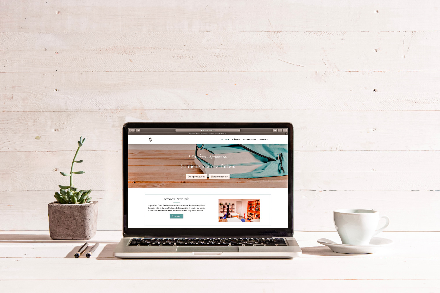 Le site internet de soutien scolaire Cours Gambetta à Tarbes.