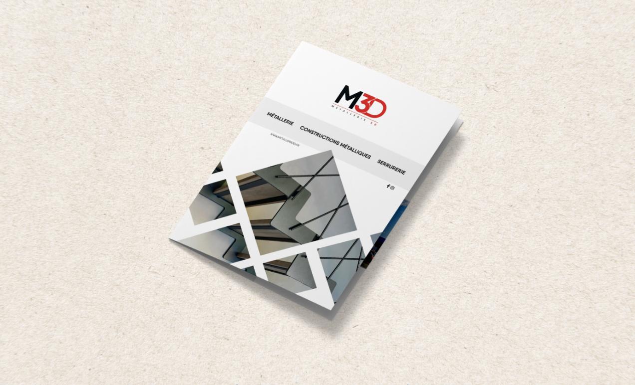 Une brochure réalisé pour la société Métallerie 3D à Tarbes.