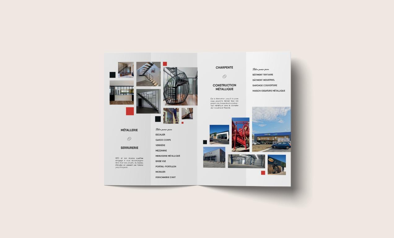 Brochure pour l'entreprise Metallerie 3D à Tarbes.