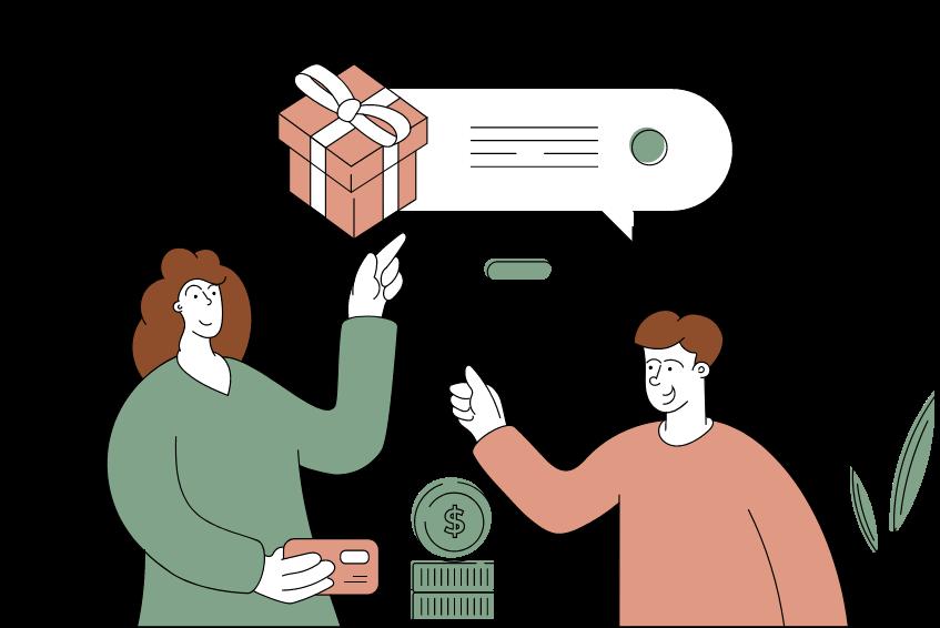 Payer : une illustration d'une personne qui fait un paiement en ligne.