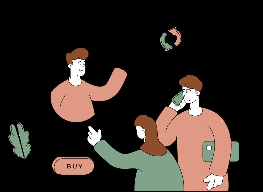 Réserver : deux personnes qui réservent les produits qui souhaitent acheter sur un site e-commerce.