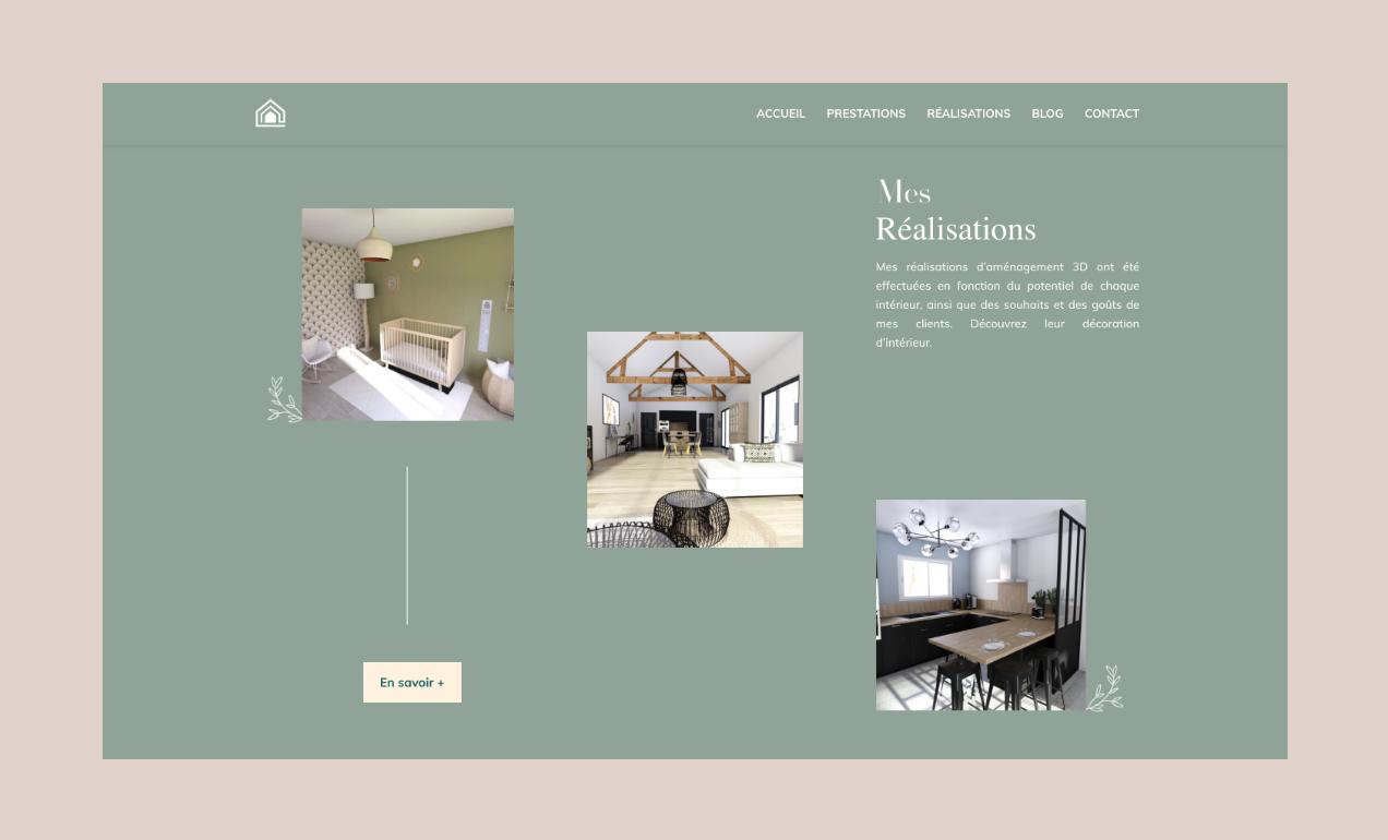 Une partie du site internet My Home 3D.